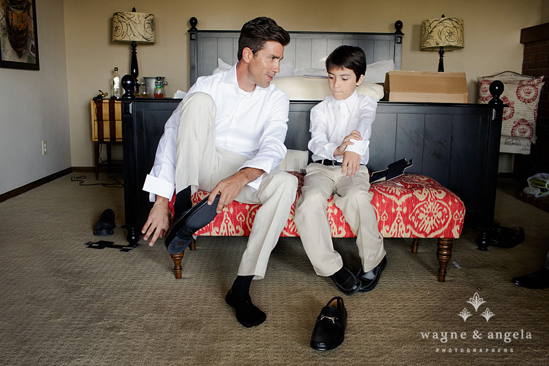 groom and nephew