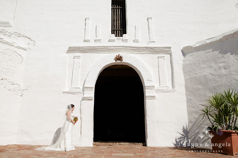 san diego mission wedding bride ceremony