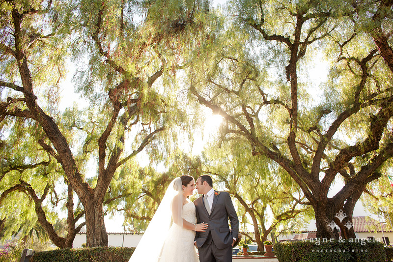 san diego garden wedding mission