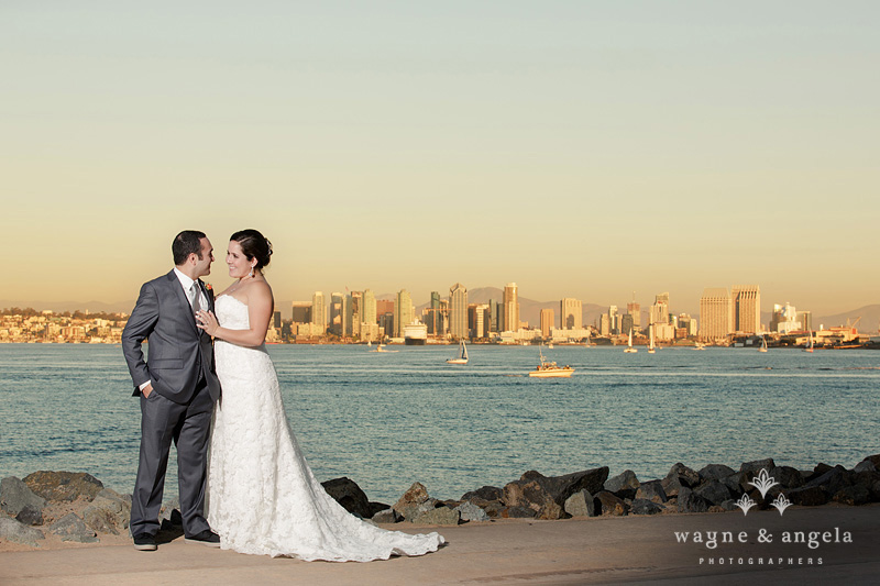 san diego bay wedding photos