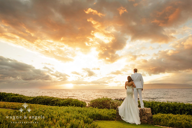 maui hawaii wedding sunset