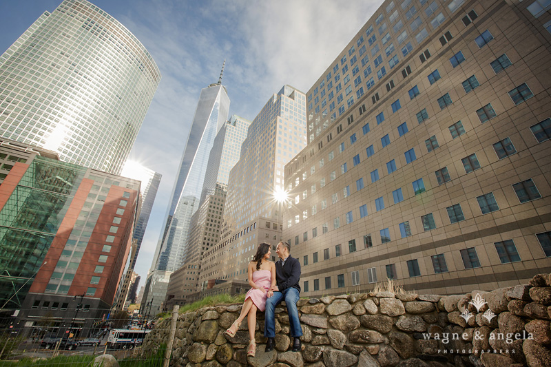 battery park engagement pictures