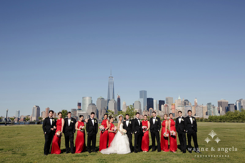 new york city skyline wedding photos