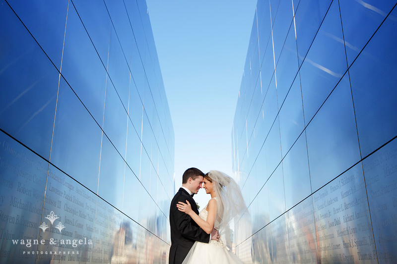 liberty state park wedding photo