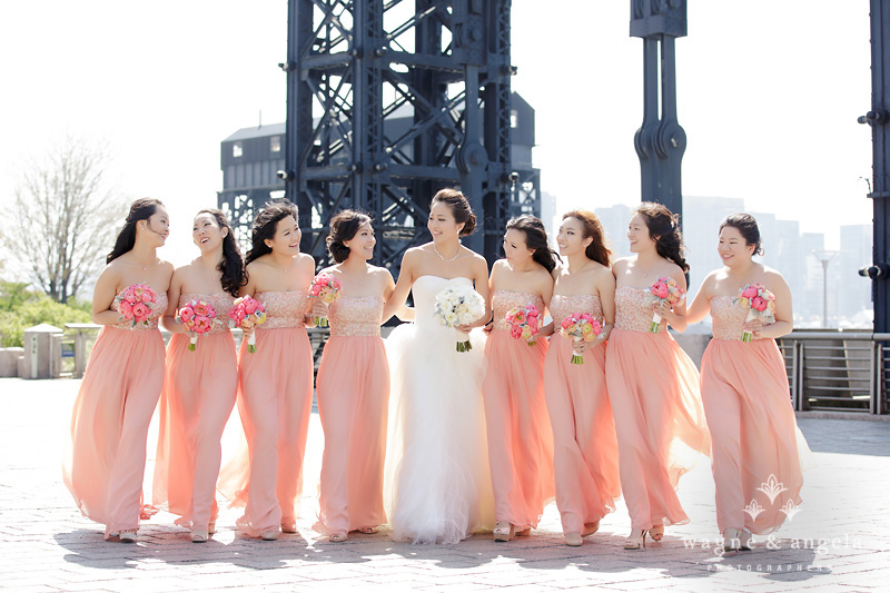 nyc bridesmaids wedding picture