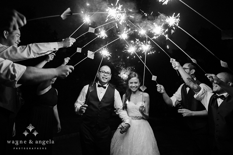 wedding sparkler photo