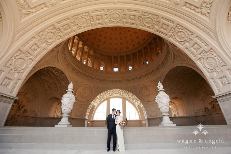 san francisco city hall elopement photos