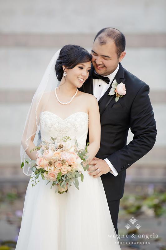 los angeles wedding couple