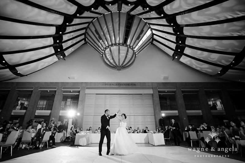 skirball la wedding reception